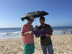 """Sharing my vision for """"Paddleball Hole"""" with director of photograpy Matt Kloker."""
