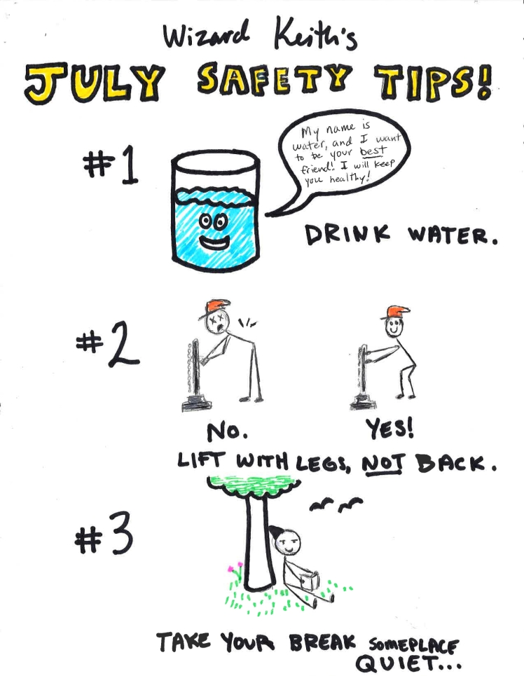 7 July 2017 Safety Tips
